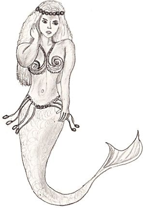 How to Draw A Realistic Mermaid | How to draw a Mermaid, step 6