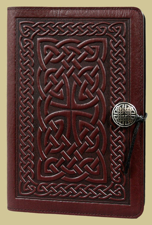 pretty celtic knot leather binding