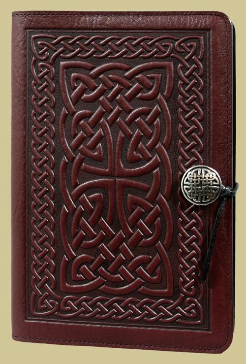 Celtic knot dark brown leather journal, handmade in ...