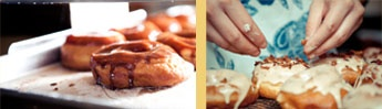 dynamo donuts - 2760 24th St. San Fran Closed Mondays - sketchy neighborhood, but delicious if you're passing by.