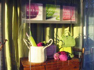 Artful Living window display in Ojai, CA