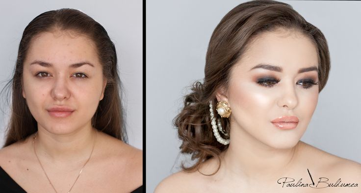 Before&after bridal make-up transformation. Be a princess on you're wedding day! #bridalmkaeup #weddingmakeup #ideasforyourewedding Make-up artist: Paulina Buldumea