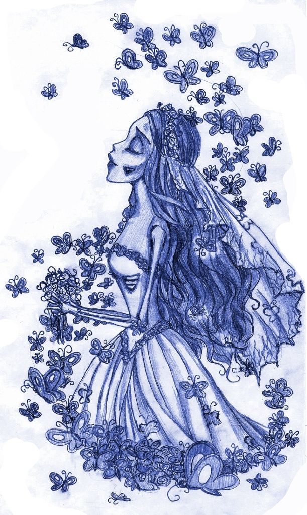 Corpse Bride drawing