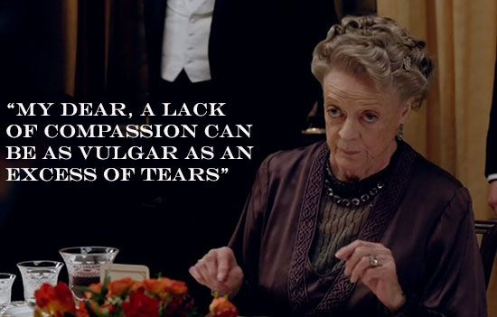More words of wisdom from Countess Violet