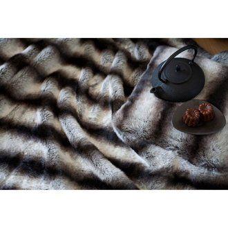 Plaid fausse fourrure Loup 140x180cm - SWEET HOME
