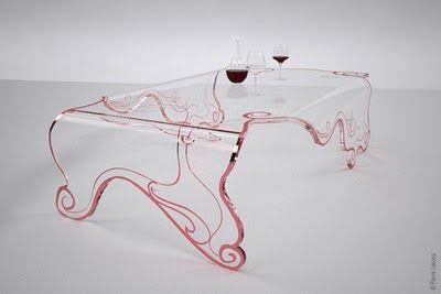 50e09439df23ef0f4e5ee20f3b200b41 Table Basse Transparente par Pierre Lescop