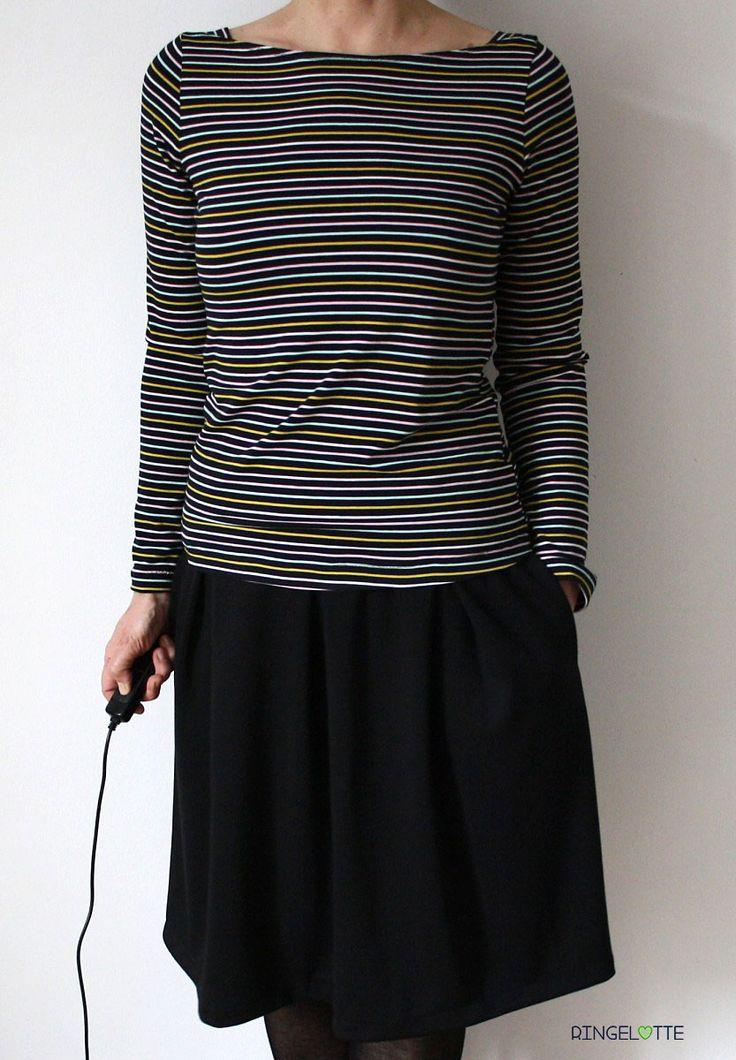 Shirt Frau Marlene von fritzi und Schnittreif / Rock Kate von schnittchen - einfach nähen (mit ❤ genäht von ringelotte)