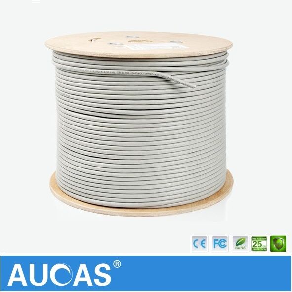 AUCAS High Speed Lan Cabe Cat6 50m 100m Network Cable Cat6 shielded FTP ethernet cable cat6