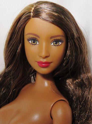 Nude barbie ~ brunette hazel eyes aa fashionista goddess ...