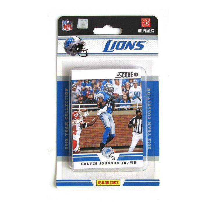 2012 Score NFL Team Set - Detroit Lions