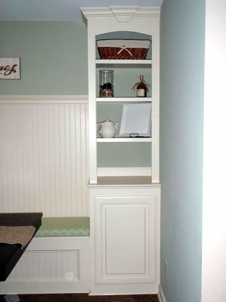 kitchen banquet with storage | Remodelaholic | Kitchen Renovation With Built-in Banquette Seating