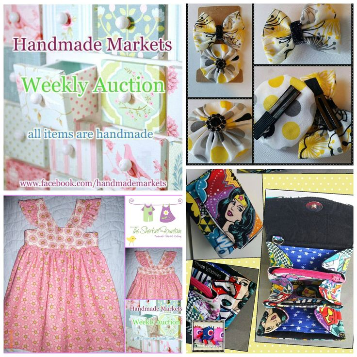 Handmade Markets auction starts Friday 2nd October 2015 8pm NSW time and finishes Sunday 4th October 2015 8pm. For more info visit: https://www.facebook.com/HandmadeMarkets