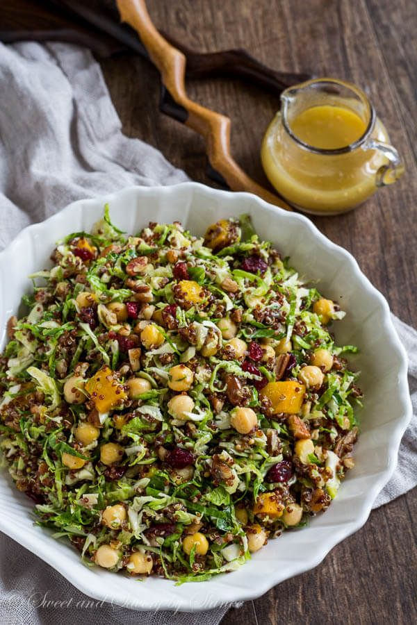 Warm Quinoa Brussels Sprouts Salad ~Sweet & Savory by Shinee