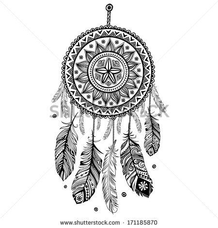 Indian Dream catcher  - stock vector