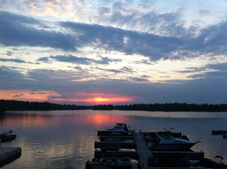 Canadian sunset in Lakefield, magical.