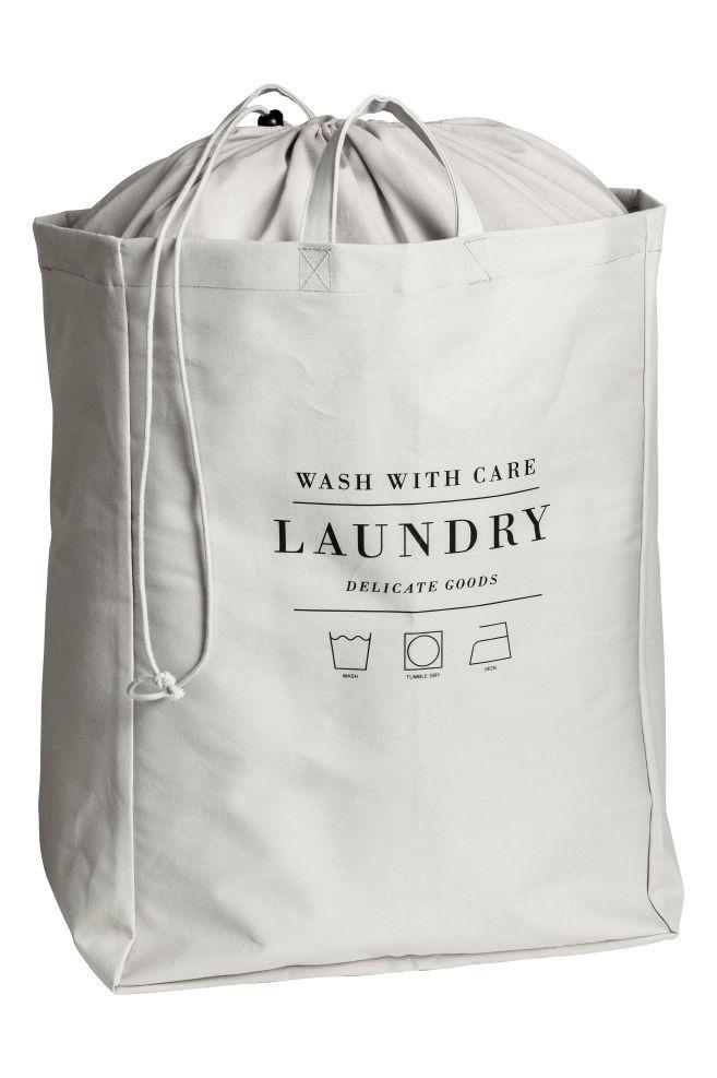 Laundry Bag Light Grey H M Us 2