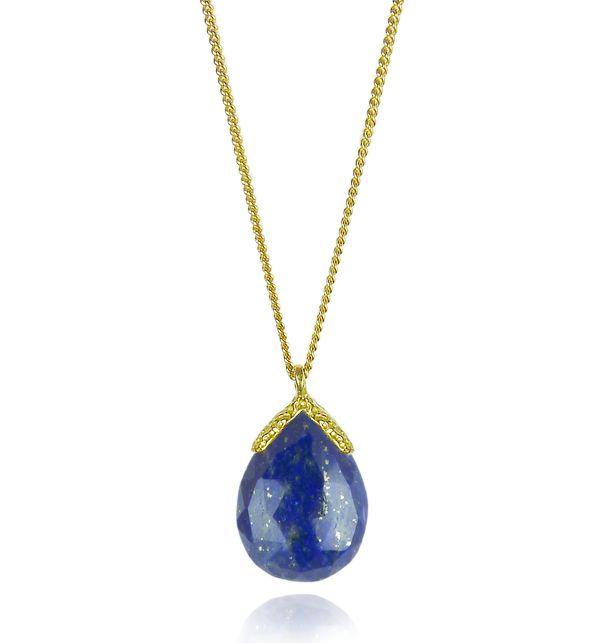 Lapis Lazuli Vermeil Pendant