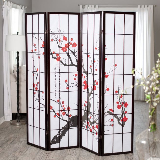 4 Panel Room Divider Folding Office Partition Privacy Screen Bedroom Furniture…