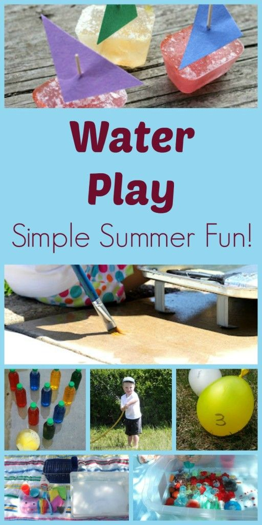 Water Play ideas for kids