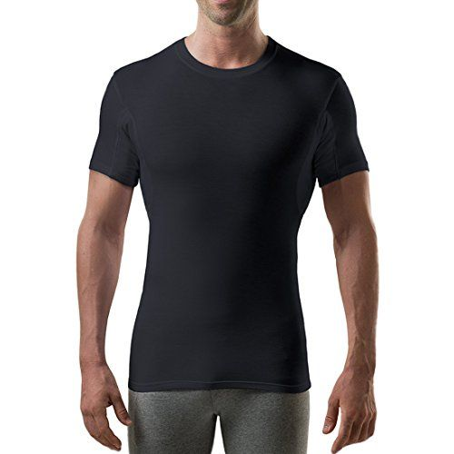 Sweat Proof Undershirts with Anti-Microbial Underarm Sweat Pads by Thompson Tee, Slim Fit, Crew - http://www.darrenblogs.com/2017/04/sweat-proof-undershirts-with-anti-microbial-underarm-sweat-pads-by-thompson-tee-slim-fit-crew/