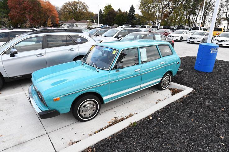 I work at a Subaru dealer and we had this beautiful 1974 Subaru DL for sale. #subaru #wrx #sti #impreza #forester #subie