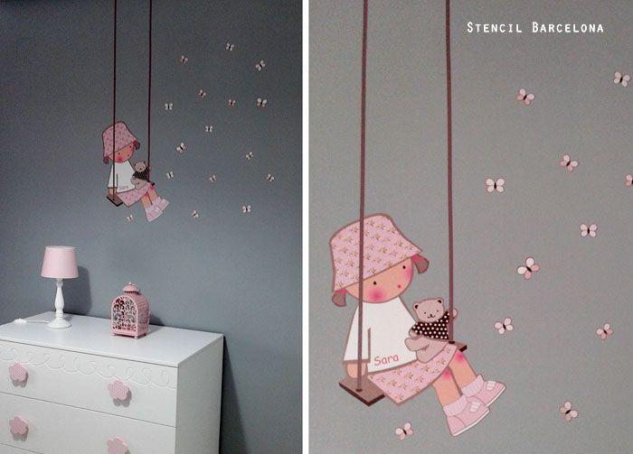 45 best vinilos infantiles images on pinterest vinyls - Stencil barcelona ...