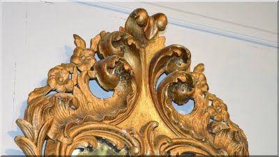 aranyozott neobarokk tükörkeret