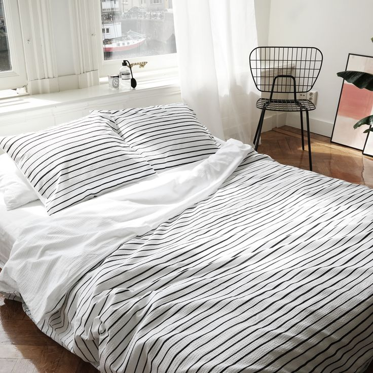 cotton duvet cover read between the lines, black and white bedding, crisp cotton bedding