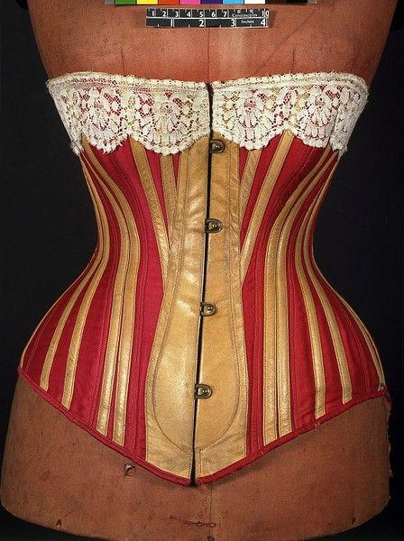 1883, English corset, V&A