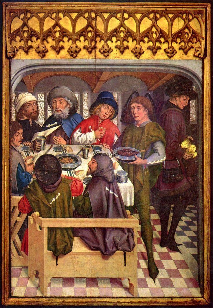 1462-1465 Friedrich Herlin - Mahl der Compostela-Pilger