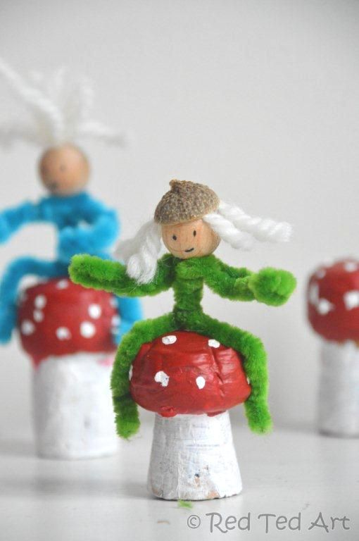 These are darling for playing with (they recently reappeared when we played with our fairy houses) or as little Christmas ornaments (we made some Granny last Chritmas and she adored them!)