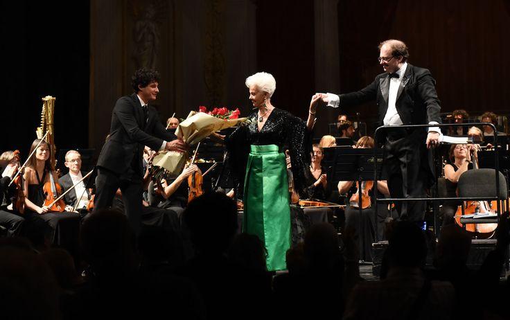 Raina Kabaivanska e il M° Nayden Todorov (foto Roberto Ricci)