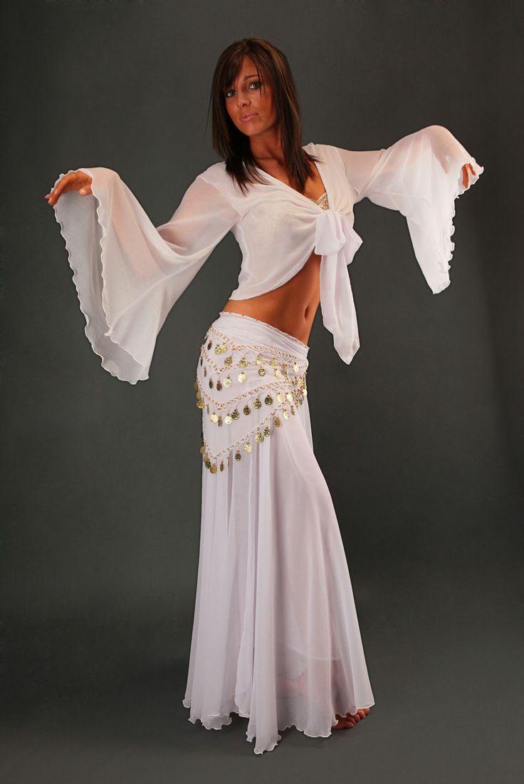 Ba Quette Orientale : Jupe quot sabah pour la danse orientale en tissu crêpe