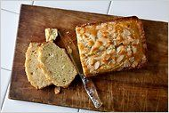 Coconut Oil Loaf with Almonds and Lime zest. Wow! Looks great.Health Food, Poundcake W Almond, Pound Cake, Oil Poundcake