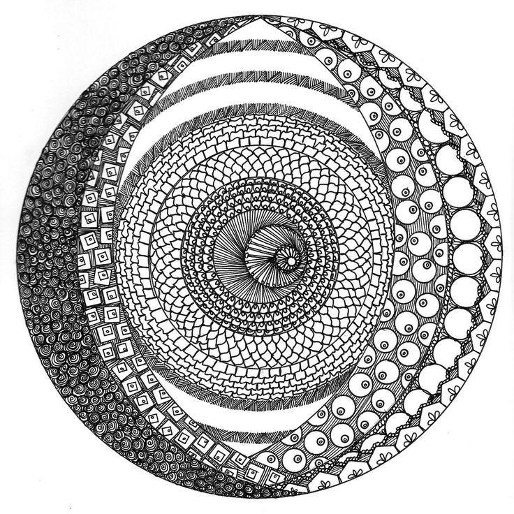 https://flic.kr/p/8S1dnm | Circle Doodle Zentangle