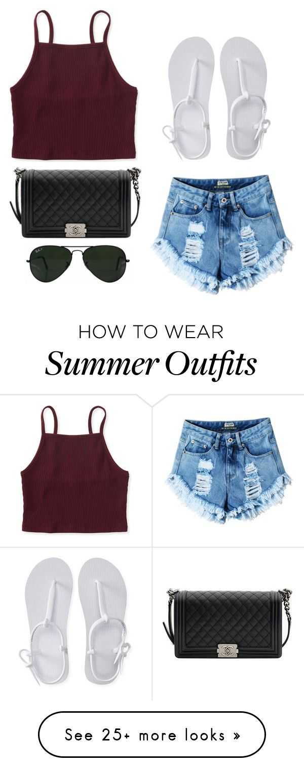 """""""Cute summer outfit , if it's ever gets sunny!"""" by styleforever101 on Polyvore featuring Aéropostale, Ray-Ban and Chanel"""