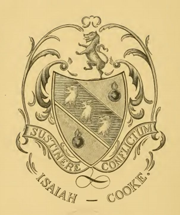 Isaiah Cooke Coat of arms