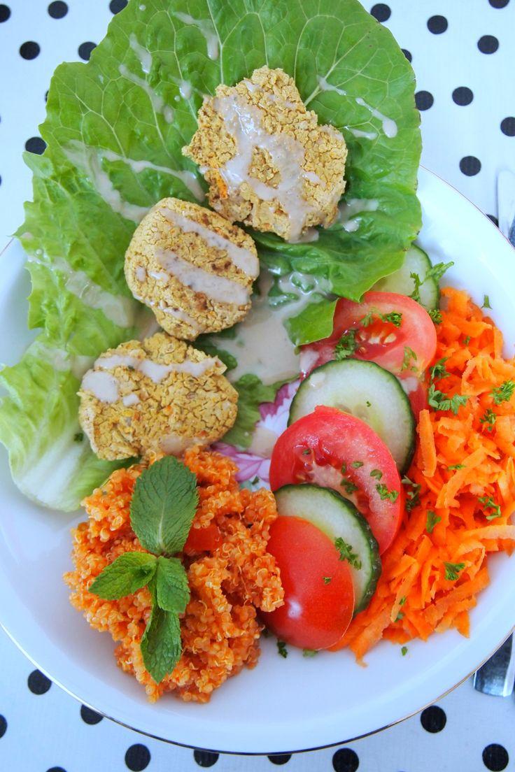 homemade falafel met pittige quinoasalade