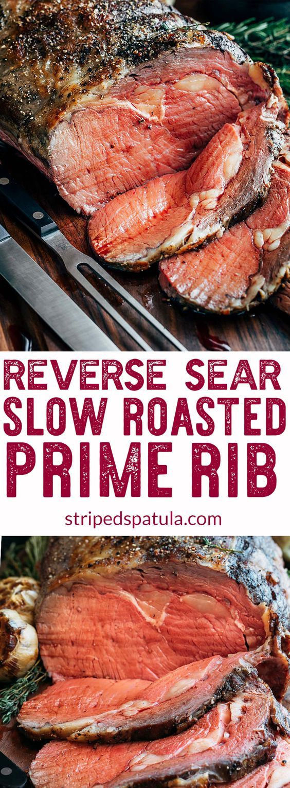 Slow Roasted Prime Rib Recipe | Prime Rib Roast Recipe | Prime Rib How to Cook | Standing Rib Roast Recipe | Standing Rib Roast Christmas | Reverse Sear Prime Rib Roast | Christmas Dinner Ideas | Christmas Dinner Recipes | #primeribrecipe #primeribroast #primeribbeef #primerib #stripedspatula #christmasdinner