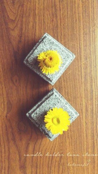 ✧☽ candle holder 'lava stone' ☾✧ #bohemefit