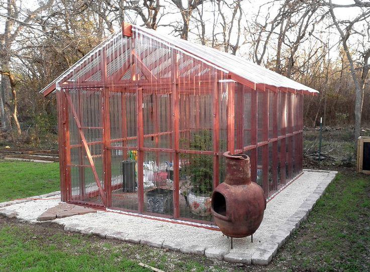 DIY Greenhouse. Uses corrugated plastic sheets ...