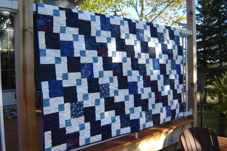 Indigo Blue Lap Quilt High School Graduation Gift by MagpieQuiltsCrafts Ideas, White Quilt, Blue Quilt, Chains Blueberries, Indigo Blue, Blue Lap, Lap Quilt, High Schools, Blue And White