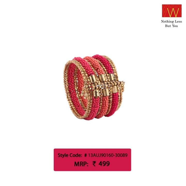 Team this with #ethnic or #casual wear & make others envy your style. Buy one from here: http://shopforw.com/categoryProducts.php?catID=179&maincatName=Jewellery&smallCat=Bangles/Bracelet