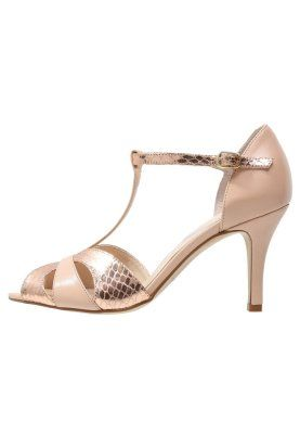 Sandały - lumiere /plata rosè gold/alemendra