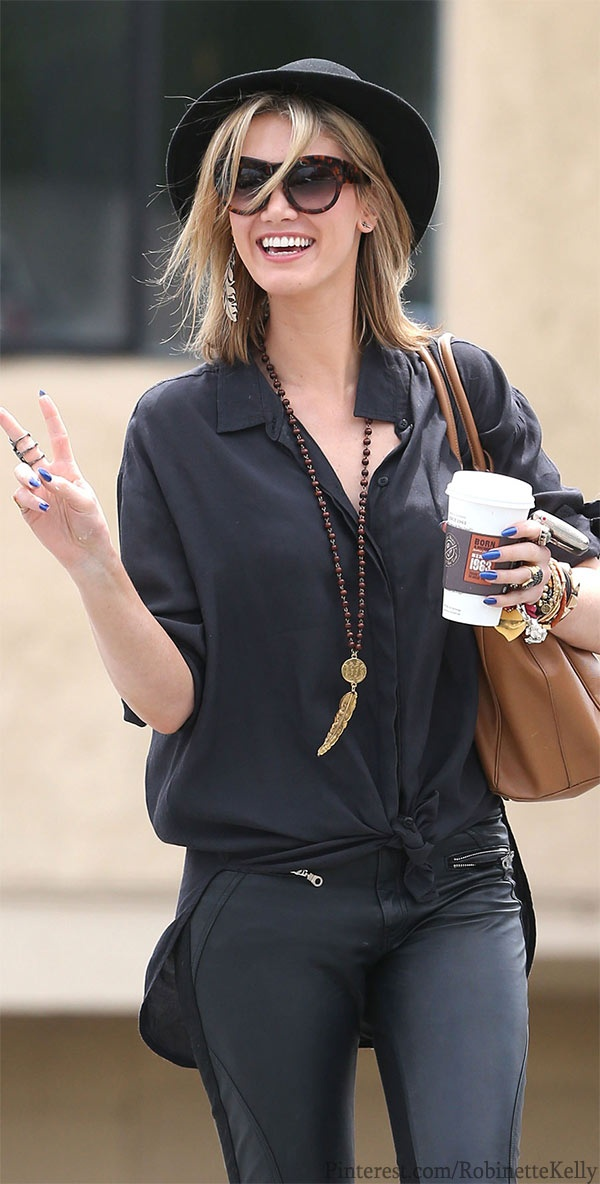 Loving this blouse! Street Style | Delta Goodrem http://findanswerhere.com/womensfashion