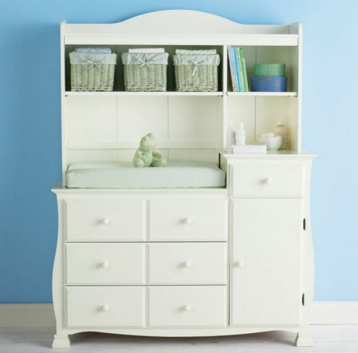 baby changing table with hutch