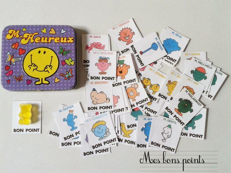 Bons points a imprimer monsieur et madame! Free printable