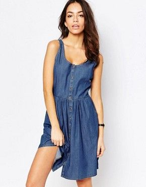 J.D.Y Chambray Button Front Dress