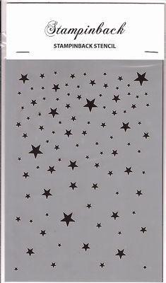 Stencil SB stars Stampinback.nl