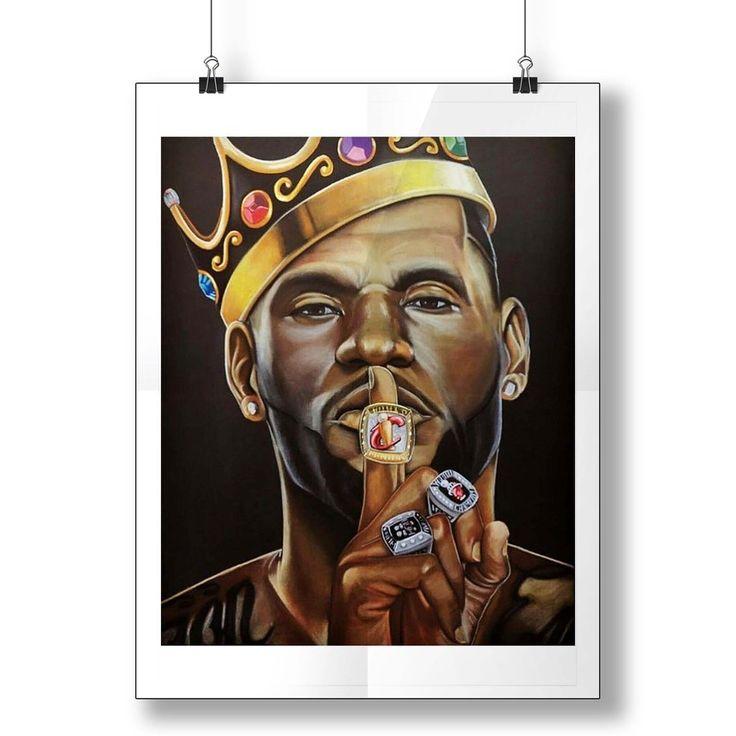 King James Basketball Inspired Lebron James Poster in 2020